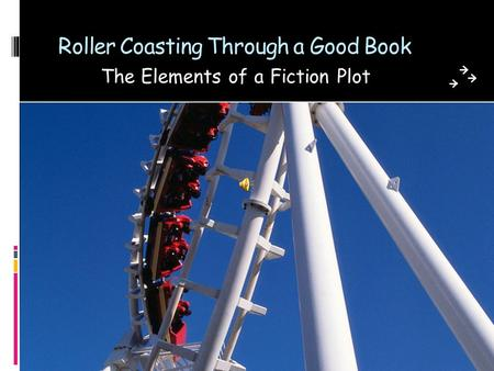 Roller Coasting Through a Good Book The Elements of a Fiction Plot.