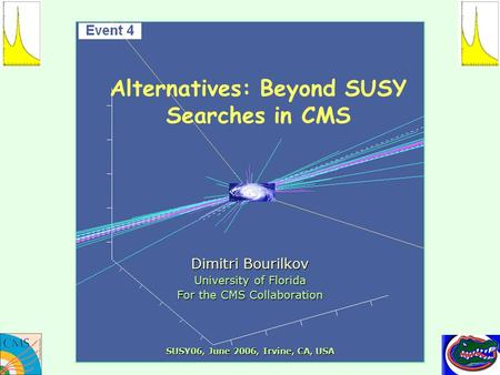 Alternatives: Beyond SUSY Searches in CMS Dimitri Bourilkov University of Florida For the CMS Collaboration SUSY06, June 2006, Irvine, CA, USA.