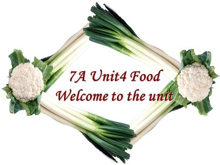 7A Unit4 Food Welcome to the unit 检查预习 A 、 New Words 1. 汉堡 5. 碗 2. 饿的 6. 蔬菜 3. 能量 7. 讨厌 4. 从不 8. 健康的 hamburger hungry energy never bowl vegetable hate.