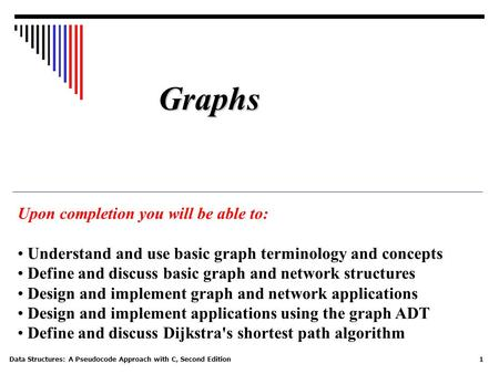 Graphs Upon completion you will be able to: