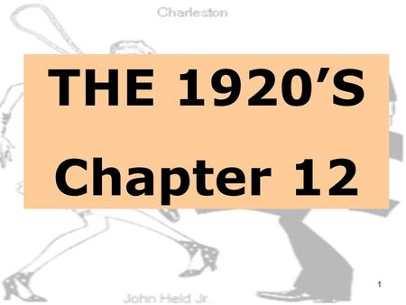 1 THE 1920'S Chapter 12 2 INFLATION STRIKES RED SCARE.
