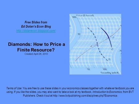 Free Slides from Ed Dolan's Econ Blog  Diamonds: How to Price a Finite Resource? Created April 26, 2010