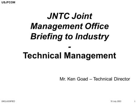 JNTC Joint Management Office