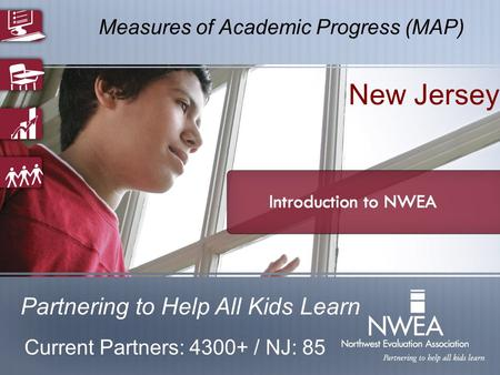 Measures of Academic Progress (MAP) Partnering to Help All Kids Learn New Jersey Current Partners: 4300+ / NJ: 85.