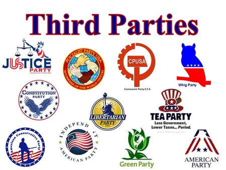 "Whig Party. The Constitution Party  advocates the ""restoration of our government to its Constitutional limits and our law to its Biblical foundation."""