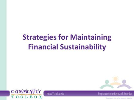 Strategies for Maintaining Financial Sustainability.