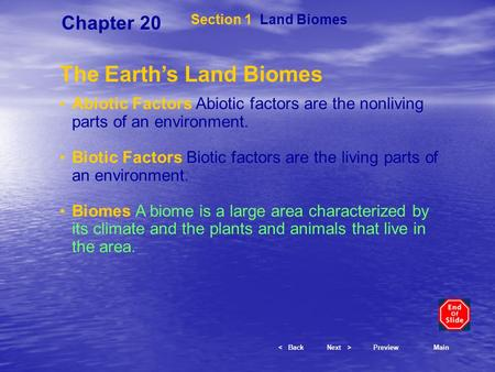 The Earth's Land Biomes
