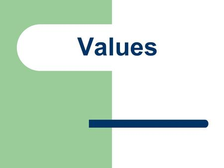 Values. What are Values? Qualities, Characteristic or ideas about which we feel very strongly. Value define what is of worth. Our values affect our decisions,