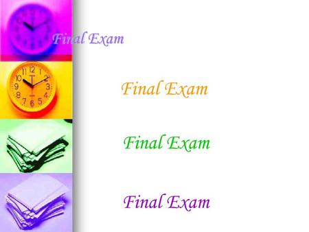 Final Exam Final Exam Final Exam.  What is Computer Graphics? Is a sub- field of computer science and is concerned with digitally synthesizing and manipulating.