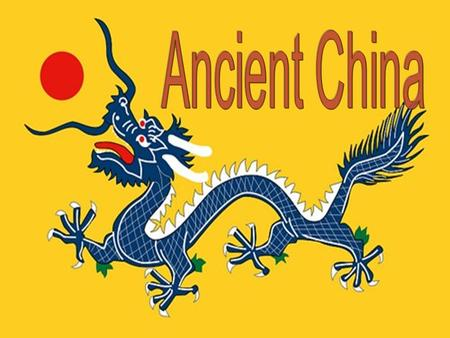 Ancient Chinese Dynasties Dynastic cycle Philosophies of the times Crazy rulers.