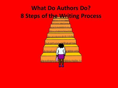 What Do Authors Do? 8 Steps of the Writing Process.