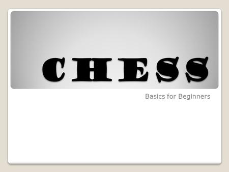 "CHESS Basics for Beginners. BOARD SET-UP The letters go across the board in front of you. ""White on right!"" Each player has a white square in their right."