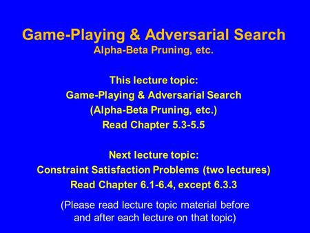 PPT – Adversarial Search PowerPoint presentation | free to ...