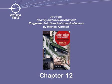 Chapter 12 Art from Society and the Environment Pragmatic Solutions to Ecological Issues by Michael Carolan.