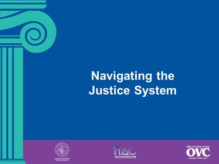Navigating the Justice System. 4-1  Describe the seven phases of the criminal justice process.  Identify at least two key victims' rights in each phase.