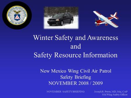 Winter Safety and Awareness and Safety Resource Information