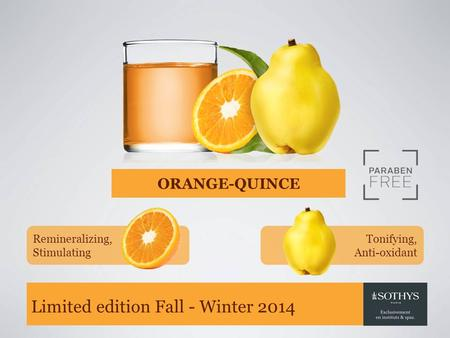 Limited edition Fall - Winter 2014 ORANGE-QUINCE Remineralizing, Stimulating Tonifying, Anti-oxidant.