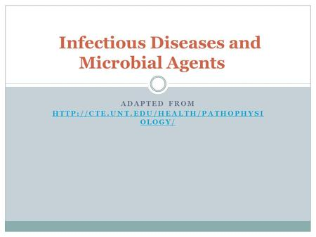 Infectious Diseases and Microbial Agents