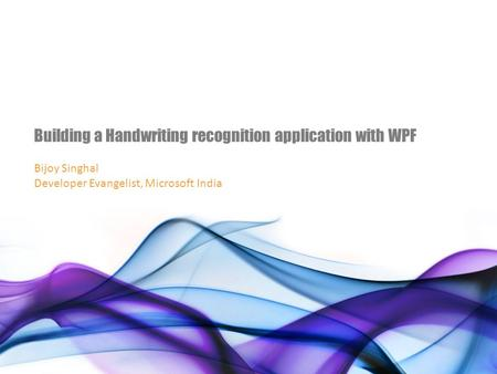 Building a Handwriting recognition application with WPF