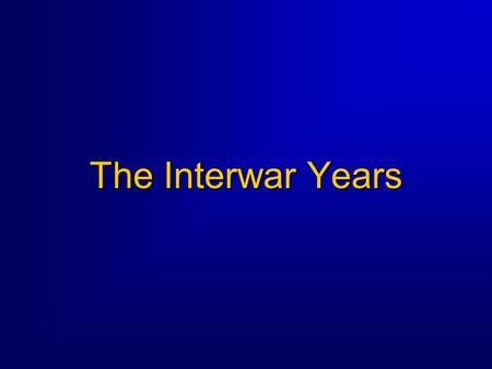 The Interwar Years. 2 Interwar Years Background  Following WW I, US returned to isolationism  Civilian aviation boomed, military budgets were cut 