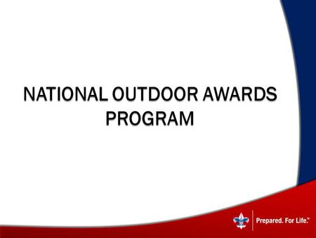 National Outdoor Awards Program