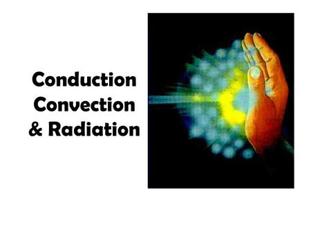 Conduction Convection & Radiation