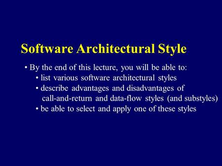 Software Architecture Pipe and Filter Model ppt video online