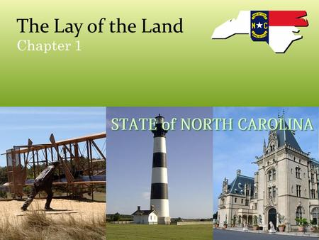 The Lay of the Land Chapter 1. Focus/Review Why is water so important to our state? Think about the number of times you have used water in the last 24.