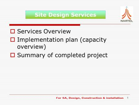 Site Construction Installation Services Ppt Video Online Download