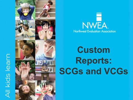 Custom Reports: SCGs and VCGs. Standard Comparison Group (SCG)