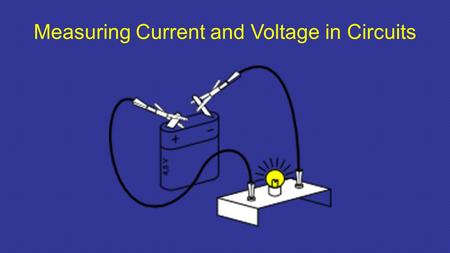Measuring Current and Voltage in Circuits. measuring current Electric current is measured in _______using an ammeter connected ________________ in series.