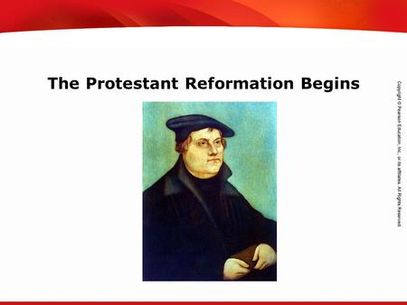 TEKS 8C: Calculate percent composition and empirical and molecular formulas. The Protestant Reformation Begins.