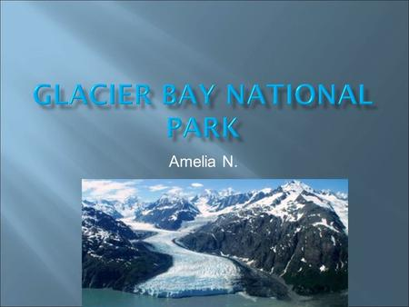 Amelia N..  Glacier Bay became an official national park, in 1925. It became a national park, to protect a number of tide water glaciers.