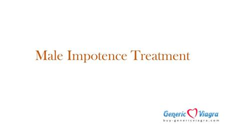 Male Impotence Treatment