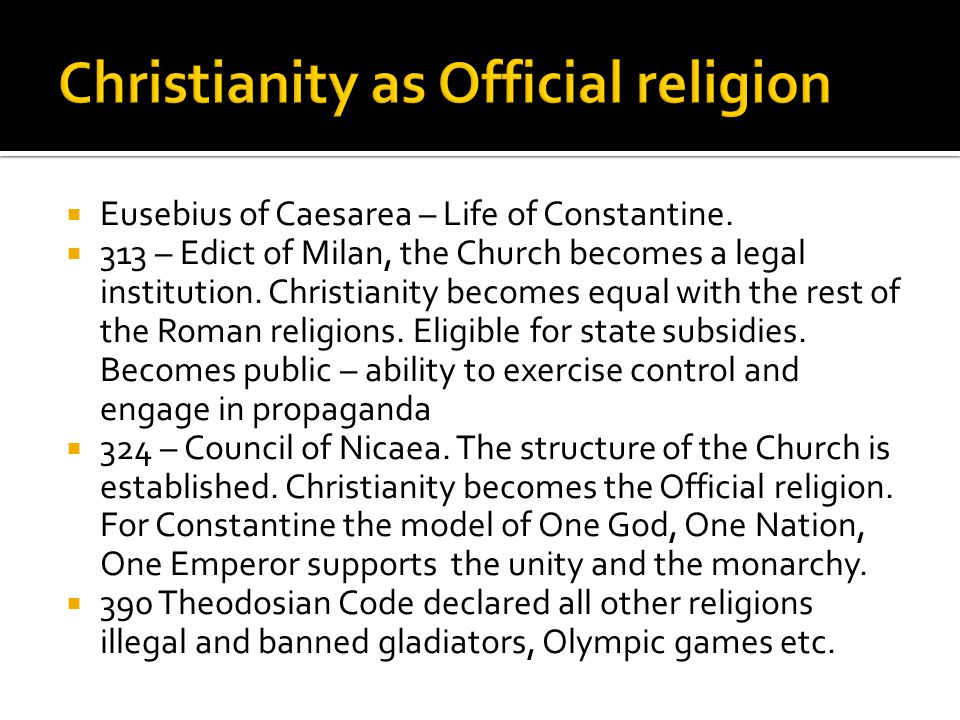  Before the Creed of Nicaea different Christian communities worshiped in a different way and had local leadership.