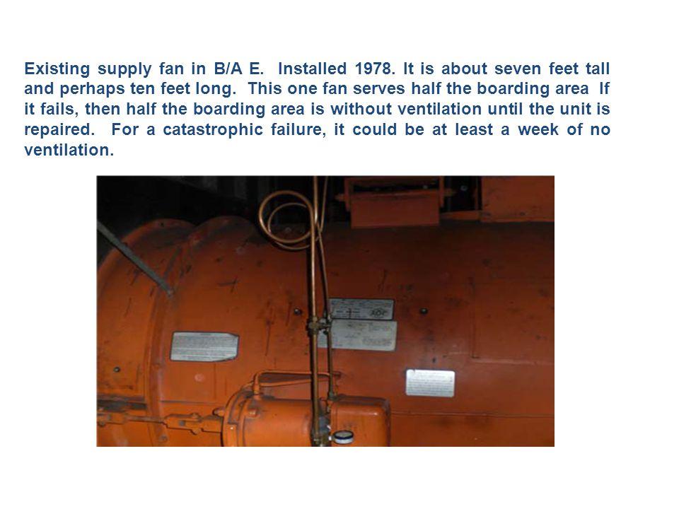 Fan Wall Fans like those installed in T2.