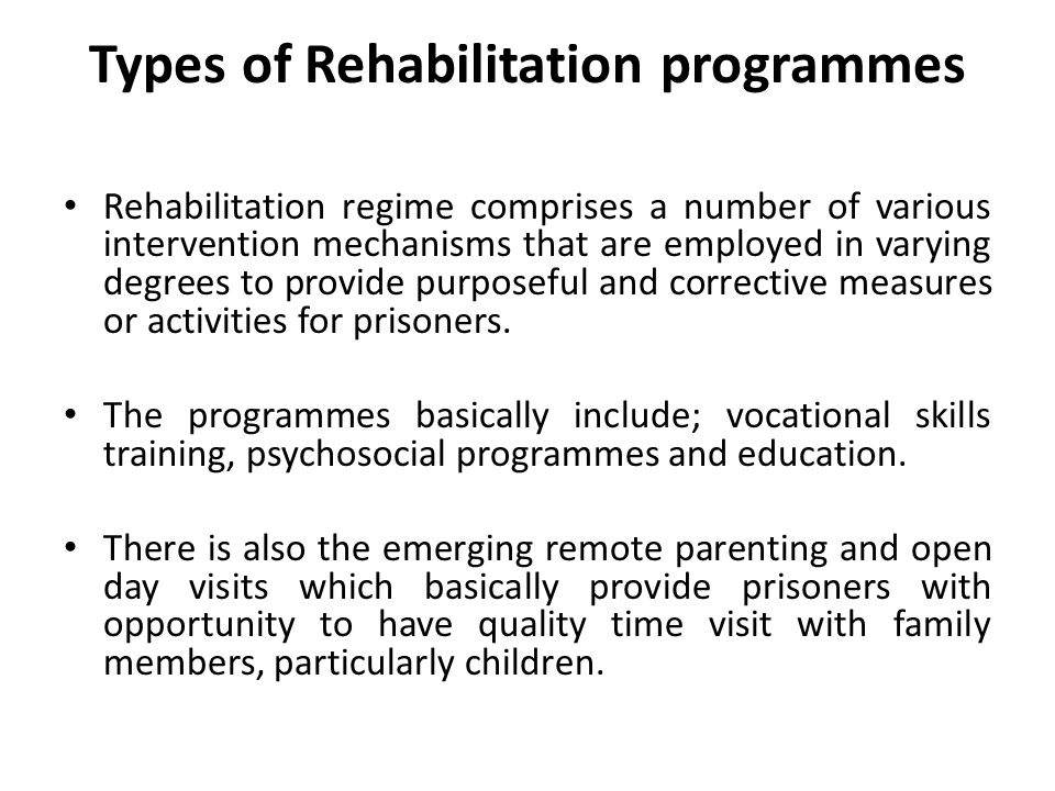 While vocational skills training development remains the primary feature of prisons programmatic areas, psychosocial, education and particularly the remote parenting and open days have emerged strongly as areas of interests.