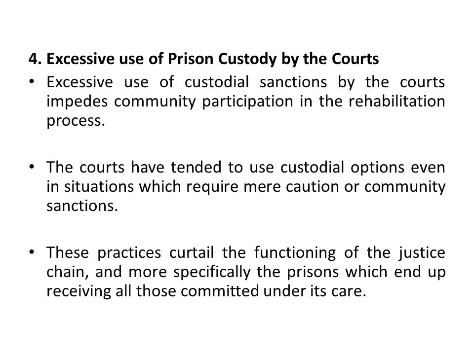 Conclusion Recognizing the critical role played by the correctional systems worldwide, is of paramount importance and that appropriate structures need to be put in place to facilitate effective rehabilitation and reintegration of prisoners.