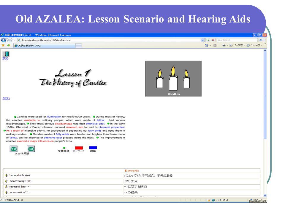 OLD AZALEA: KEYWORDS and Problems