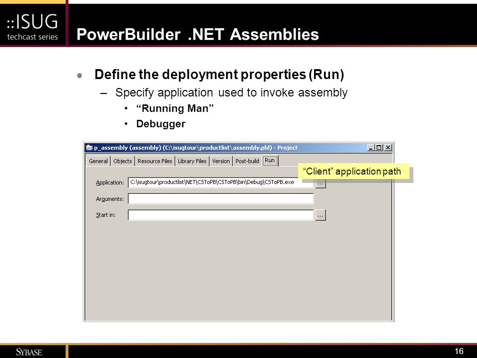 17.NET Assembly CSC PowerBuilder.NET Assemblies  Deploy the NVO –Use project painter or context menu on target/project to initiate deployment Syntax errors save/build C# translation deploy Unsupported features PB2CS PowerBuilder System Library For.NET (managed code) DataWindow Engine Database Interfaces (unmanaged code) PowerScript Source PBDs (DataWindow Objects)