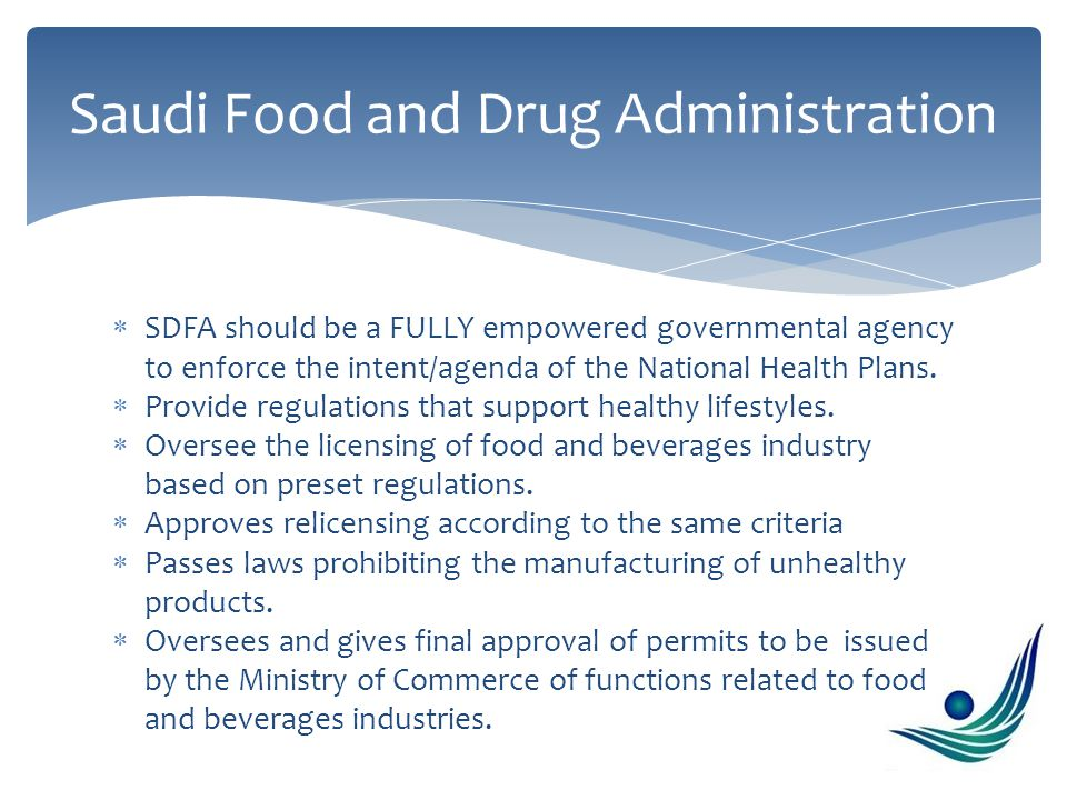  Ensure healthy food by prohibiting the use of chemicals and hormones in food products  Establish a system to reward those producers that comply with regulations Ministry of Agriculture