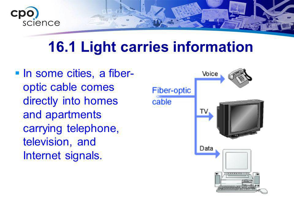 16.1 The speed of light  The speed at which light travels through air is approximately 300 million meters per second.