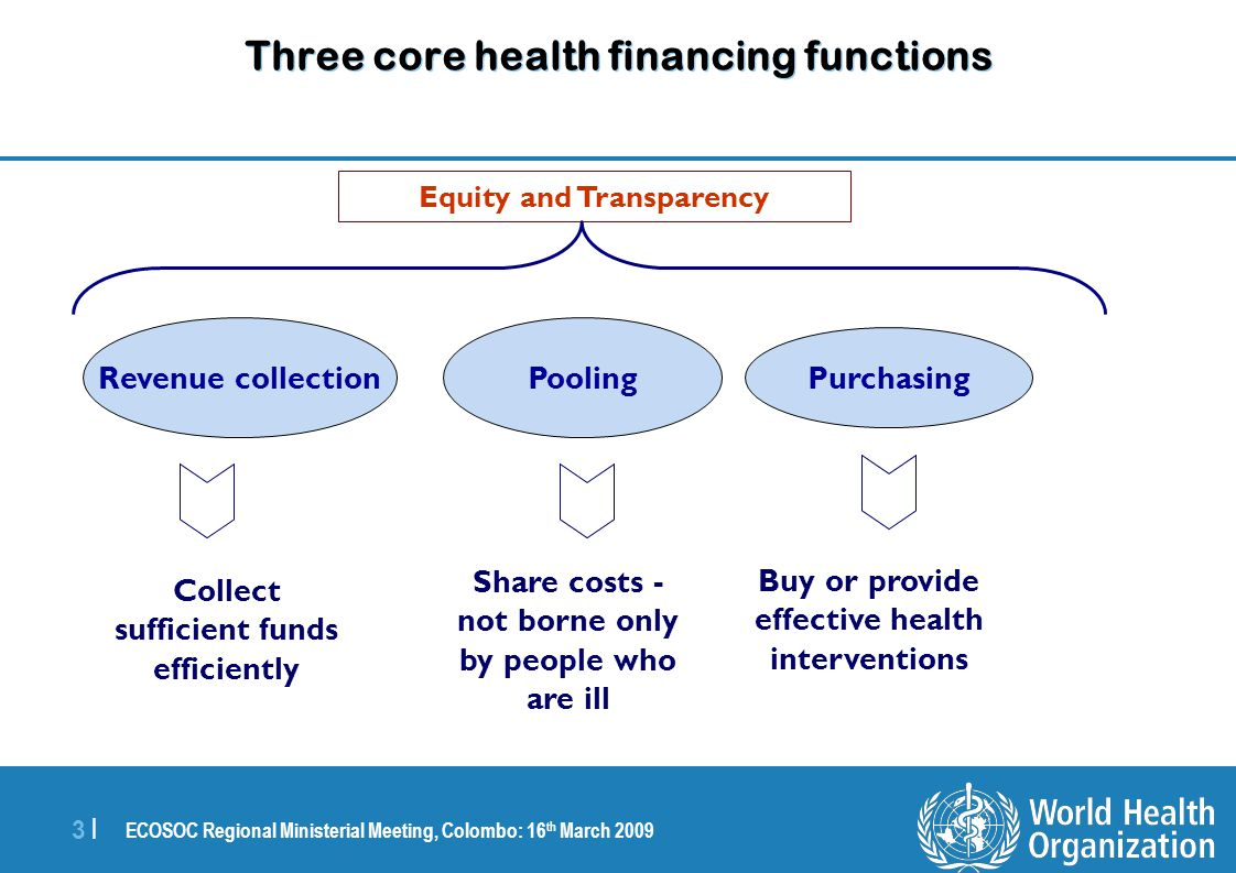 ECOSOC Regional Ministerial Meeting, Colombo: 16 th March 2009 4 |4 | Revenue Collection  13 Asian countries rely heavily on external funding for health.