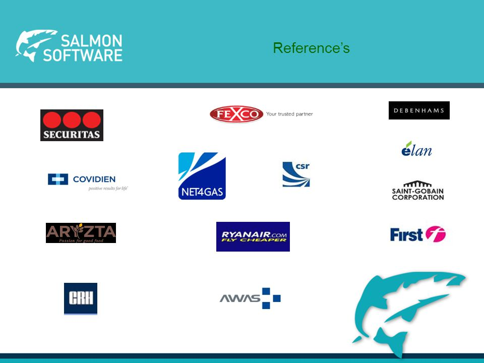 30 Years of Knowledge – Founded in 1985 Founded in1985 in Dublin Ireland, Salmon Software Limited Independent company and has over 25 years specialist experience in Treasury knowledge.