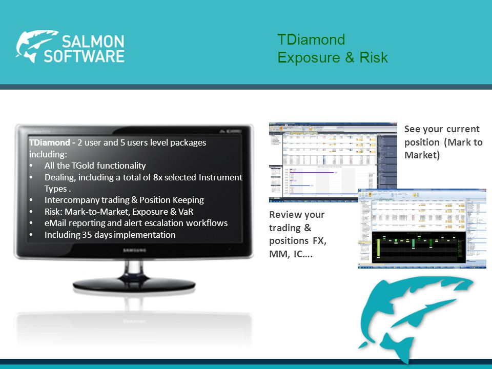 TPlatinum Graphics at a Click TPlatinum- 5 user and 10 users level packages including: All the TDiamond functionality eTrading integration (360T) Unlimited Instrument types Payment Processing workflows and integration Extended user coverage.
