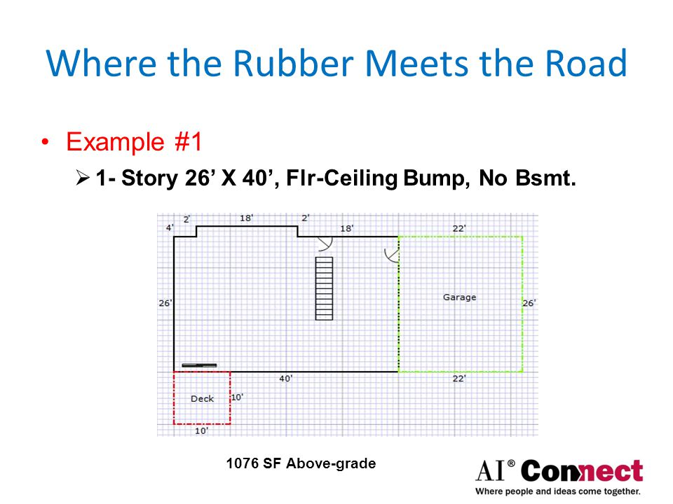 Where the Rubber Meets the Road Example #2  1-Story 26' X 40', Bay Window Bump,No Bsmt.