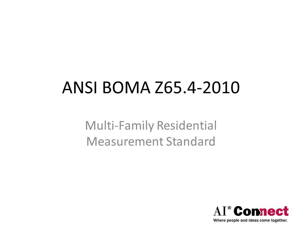 Measuring Multi-Family Residential Properties Using BOMA Z65.4