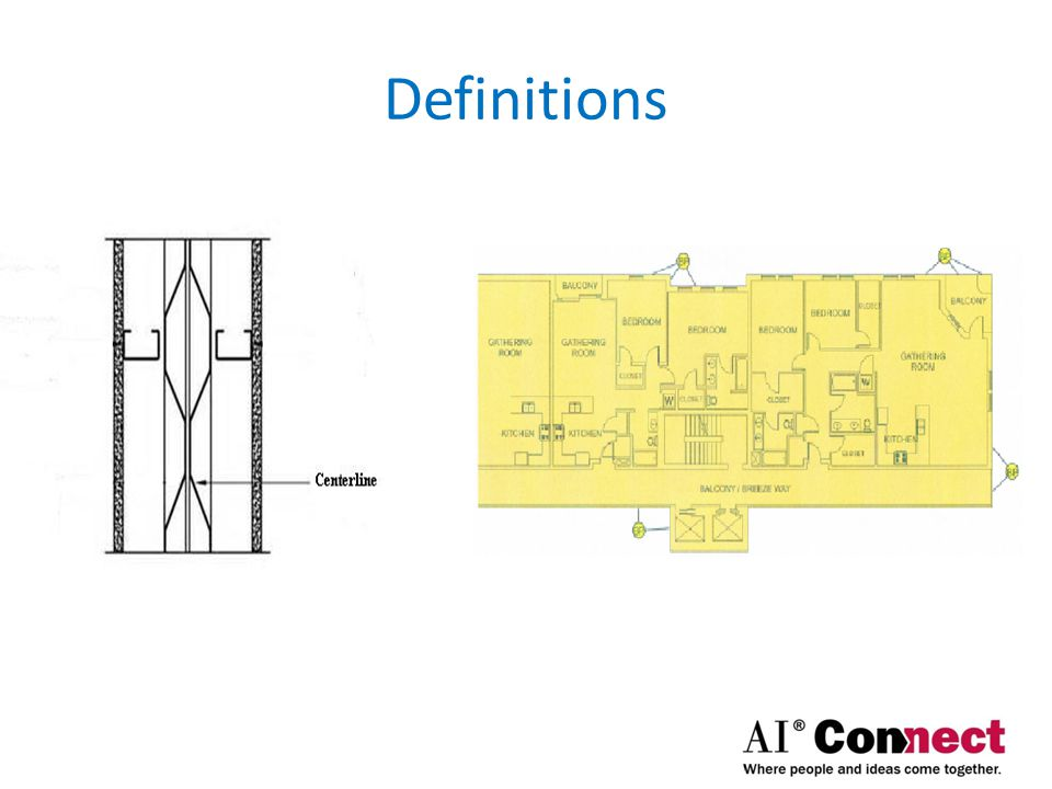 Demising Wall – A wall between areas; may be same or different Finished (wall) Surface – Face of wall | window; painted or clad wallboard Limited Common Area – Private balconies, decks, patios, or porches Living Unit – Residential Habitable Unit
