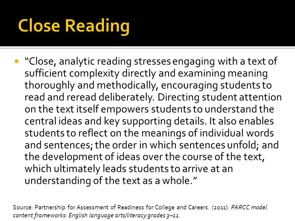  A Checklist for Close Reading:  Grammar How are the sentences constructed.