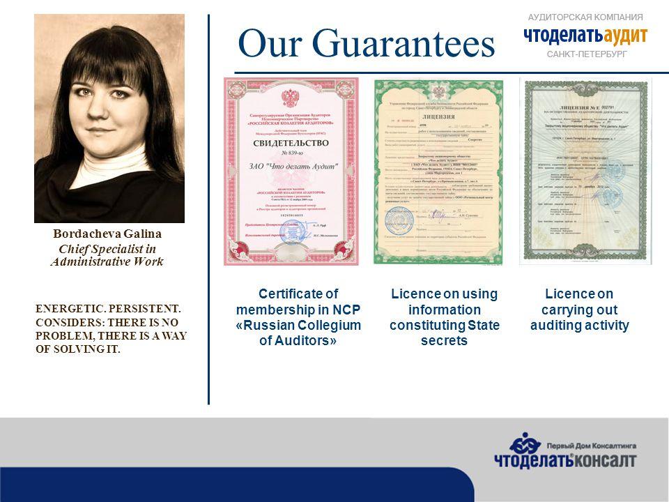Our Guarantees Napolskaya Olga Lawyer ENTHUSIASTIC ABOUT HER JOB.